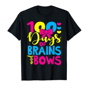Get Now 100 Days Of Brains And Bows 100 Days Of School Gift Tshirt