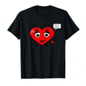 Cool Funny Valentine's Day T Shirt - Red Solo Heart