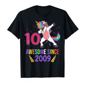 Buy Now 10 Years Old 10th Birthday Unicorn Shirt Girl Daughter Gift