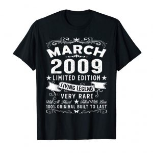 Get March 2009 Shirt Vintage 10th Birthday Gift 10 Years Old