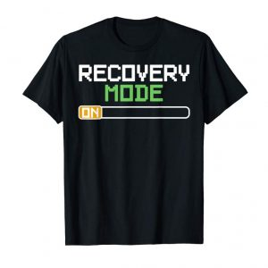 Get Now Recovery Mode On Get Well Gifts Funny Injury T-Shirts