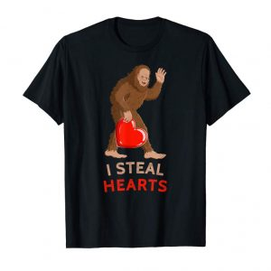 Get I Steal Hearts Bigfoot Valentines Day T Shirt Men Women Kids
