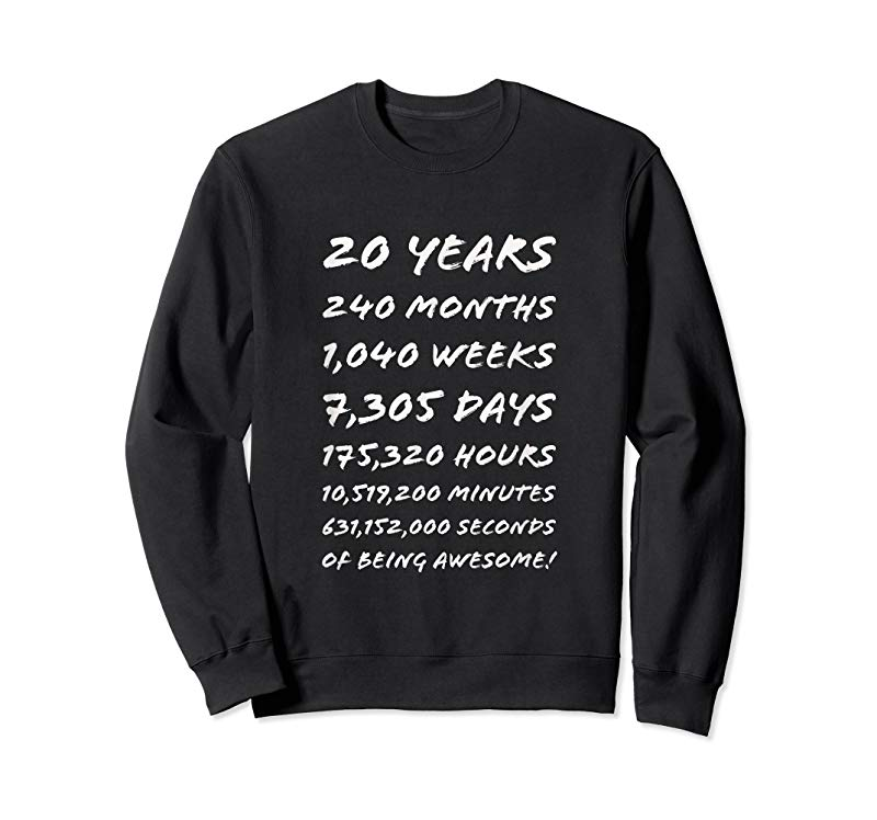 ae12d9ae Get 20 Years Old 20th Birthday T Shirt 240 Months - Tees.Design