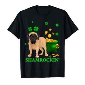Buy Shamrockin' English Mastiff St Patricks Day Tshirt Gifts