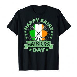 Order Now St Patrick's Day Hockey T-shirt Irish Saint Hatrick's Day-01