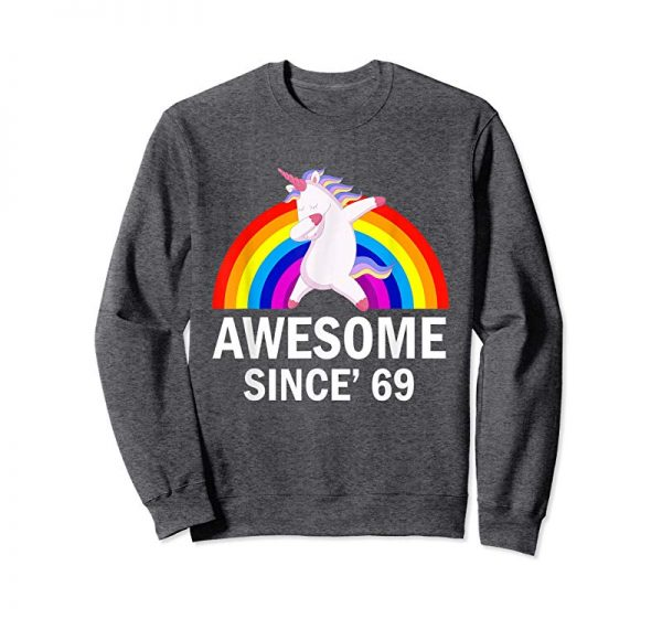 Trends Unicorn Awesome Since 1969 T Shirt 50th Birthday Gifts Shirt