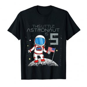 Get Now Kids 5th Birthday Astronaut Shirt Boys Gift 5 Year Old Space Geek