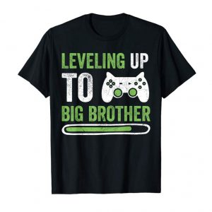 Buy Gamer New Brother T-Shirt Leveling Up To Big Bro T-Shirt