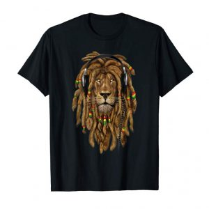 Trends Marley Lion Art Dreadlock Rastafari Headphones T-Shirt