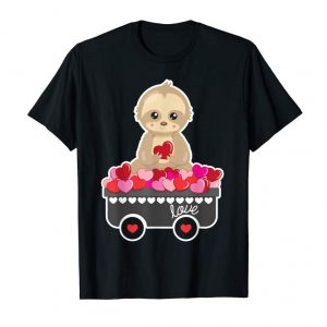 Order Cute Sloth T Shirt Valentines Day Heart Gift For Girls Tee