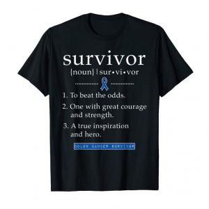 Buy Now Colon Cancer Survivor Gifts For Women Men Definition Shirt