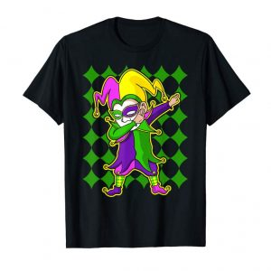 Cool New Orleans Mardi Gras Jester Funny Dabbing Shirt Men Kids