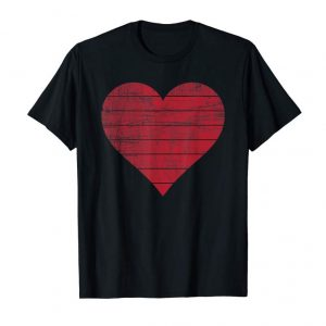 Order Retro Vintage Red Heart T-Shirt Valentine's Day Shirt