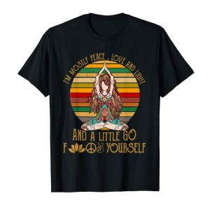 Buy I'm Mostly Peace Love And Light Yoga Tattoo Women T-Shirt