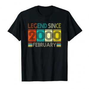 Get Born In February 2000 Birthday Gift 19 Year Old T-shirts