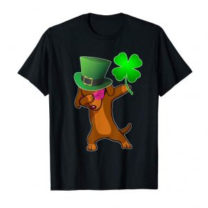 Buy Now St Patricks Day Dabbing Dachshund Dog Tshirt Shamrock Gift