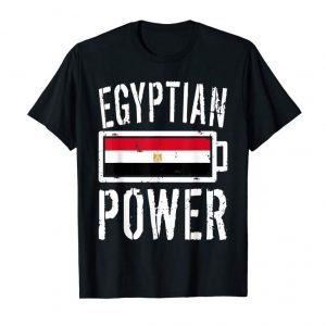 Cool Egypt Flag T-Shirt | Egyptian Power Battery Proud Tee