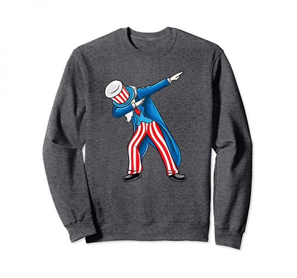 Order Now American Flag Dabbing Uncle Sam Shirt