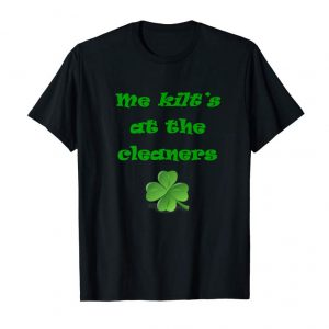Cool Funny Kilt T-shirt Cute St. Patrick's Day Shamrock Tee