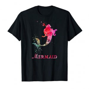 Buy Now MERMAID VALENTINES DAY RAINBOW PINK T-SHIRT FOR COUPLE