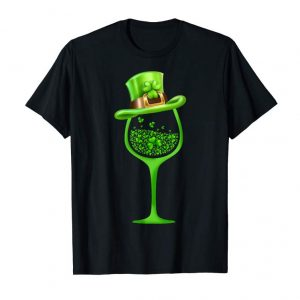 Buy Shamrock Wine Glass Top Hat St Patrick's Day 2019 Gift Shirt