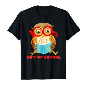 Order Now Cute Owl 100th Day Of School T-shirt Owl Read Book Tees