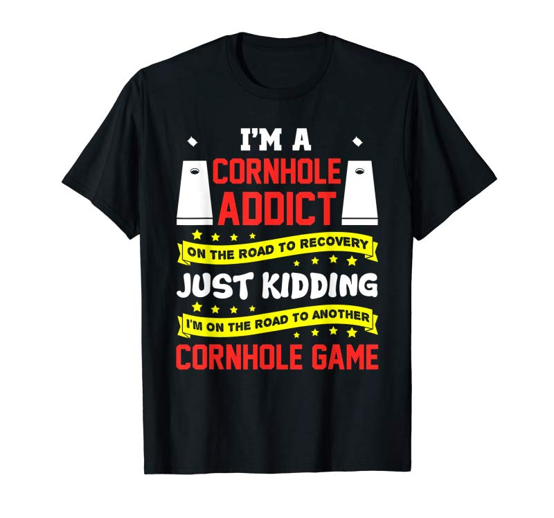 Get Now Cornhole Addict T Shirt Gifts For Men Women Game Kids Bags