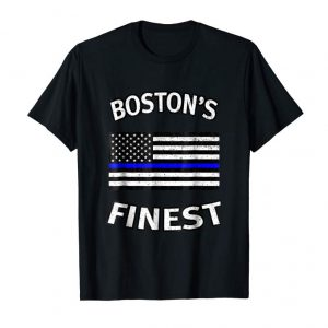 Get Now Boston's Finest/ Thin Blue Line Shirt - Police Family