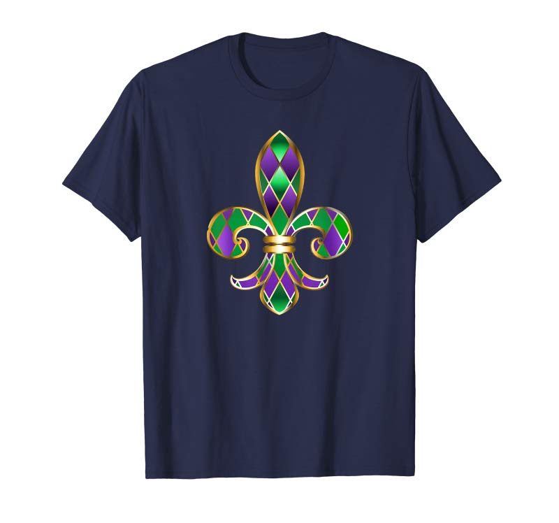 c5fe563c Get Now Mardi Gras Fleur De Lis New Orleans Party Parade T-Shirt -  Tees.Design
