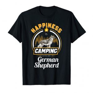 Trending Camping With My German Shepherds Happiness Dog Owner T Shirt