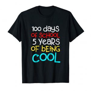 Trending Kids 100 Days Of School Shirt Birthday Gift 5 Years Old Boys Girl