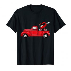 Get Now Happy Valentines Y'all ! Red Truck Lover Heart Dabbing Shirt