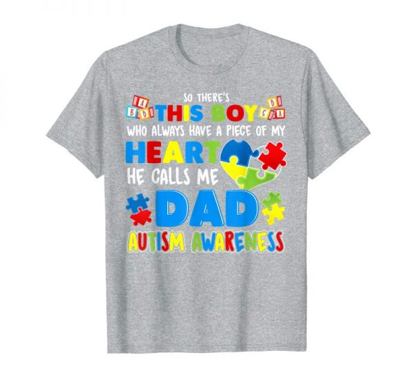 Buy Dad Autism Awareness T-Shirt Special Fathers Gift