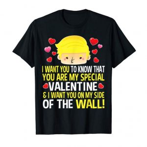 Cool Valentines Day T Shirt Trump Wall Gift For Men Women Kids