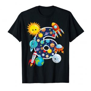 Trending Outer Space 6 Year Old 6th Birthday Party T-Shirt Boys Girls