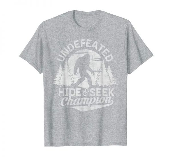 Buy Bigfoot T-shirt Undefeated Hide & Seek Sasquatch Yeti Gift