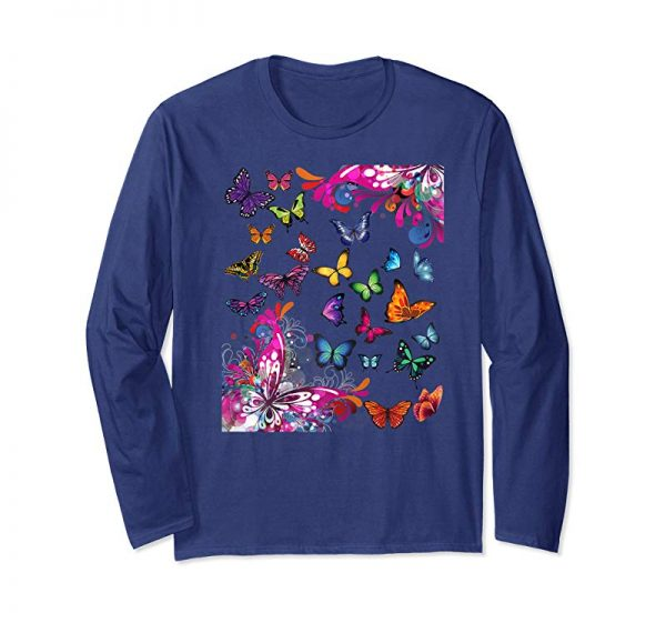 Cool Butterfly Paradise Butterflies Tshirt For Girls And Women