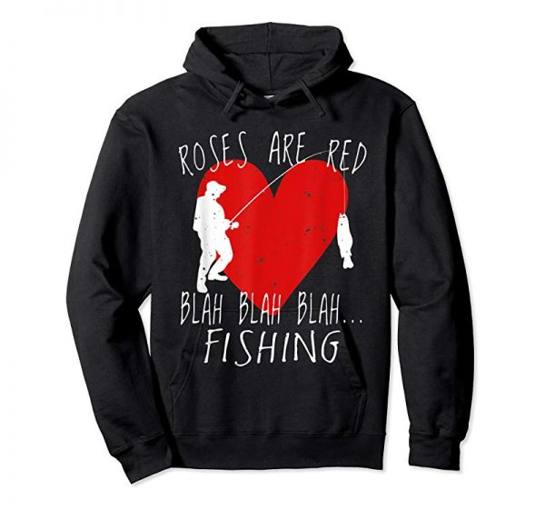 Order Now Funny Valentines Day T Shirt Men Roses Are Red Fishing