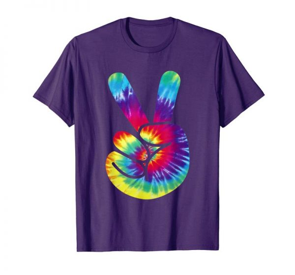 Order Groovy Two Finger Peace Sign Tie Dye Shirt