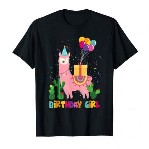 Buy Cute Alpaca Llama Cactus Girls Birthday Gift Kids T-Shirt