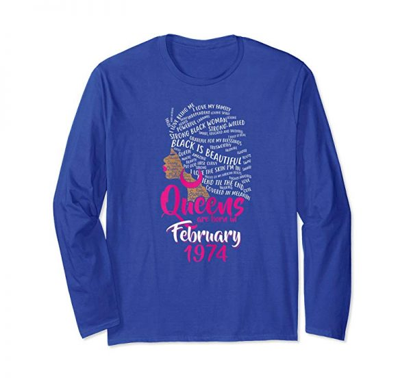 Buy Now Womens Queens Are Born In FEBRUARY 1974 45th Birthday Women T-Shirt