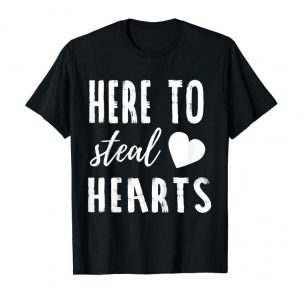 Order Now Kids Valentines Day Kids Shirts - Here To Steal Hearts