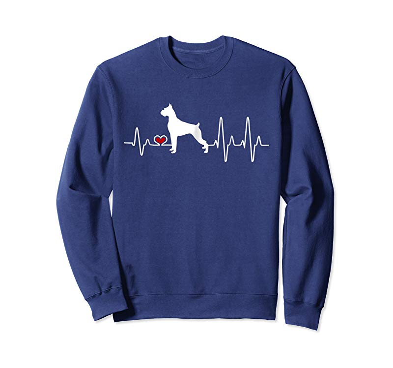 Buy Boxer Dog Heartbeat Pulse T Shirt Tees Design