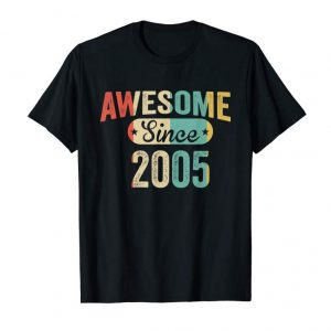 Get Vintage Awesome Since 2005 T-Shirt 14th Birthday
