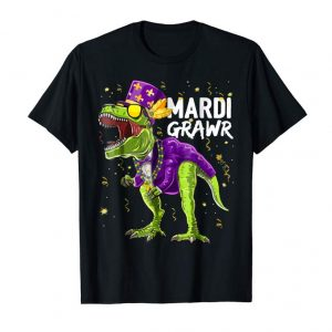 Trending Funny Mardi Gras Dinosaur Shirt For Men, Women And Kids