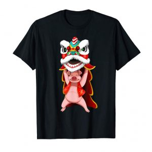Order Chinese New Year 2019 T Shirt Pig Dragon Dancing Happy Gift