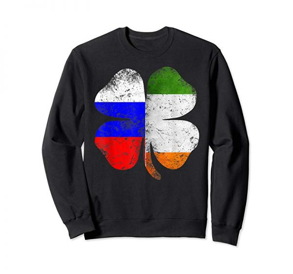 Order Irish Russian Flag Ireland Shamrock St Patricks Day T Shirt