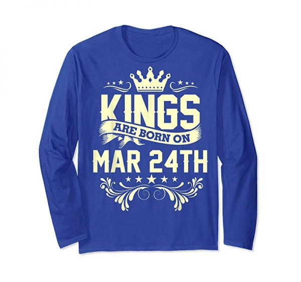 Cool Kings Are Born On March 24th Birthday T-Shirt For Men