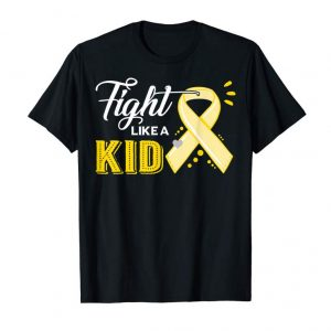 Cool Fight Like A Kid Childhood Cancer Awareness Tshirt Gifts