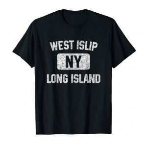 Get Now West Islip NY T Shirt Long Island Gym Style Distressed Print